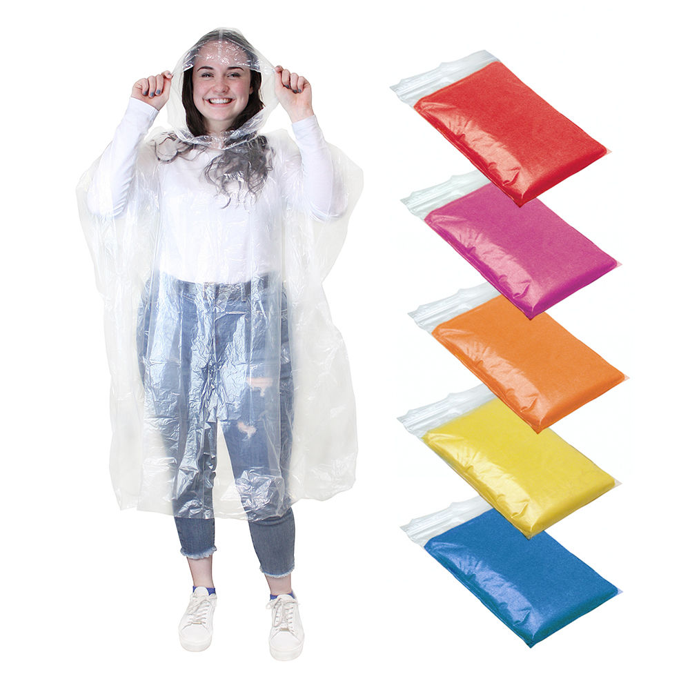 Disposable Adult Emergency Waterproof Rain Coat PONCHO Hiking Camping