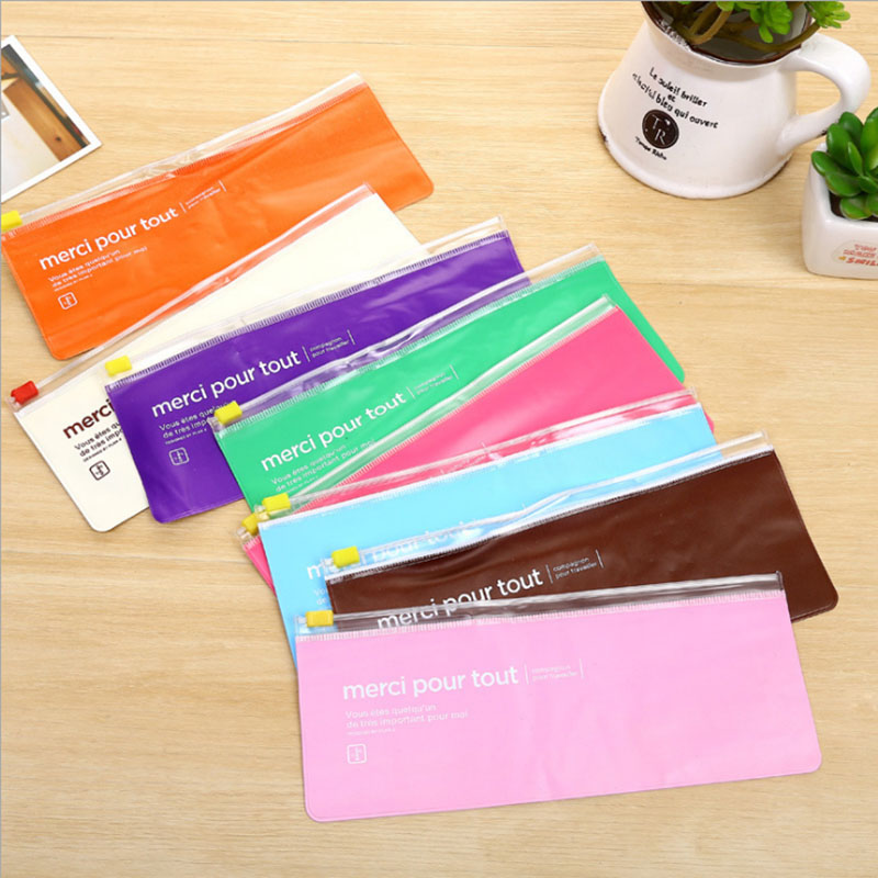 PVC stationery storage of plastic pencil case School stationery gifts Office school supplies School supplies stationery