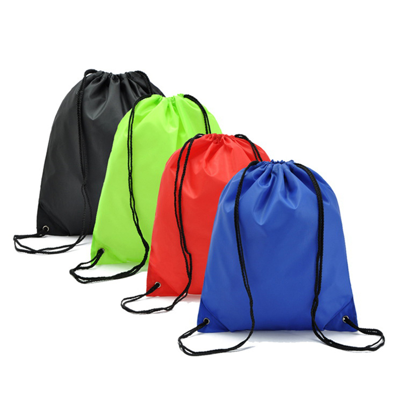Waterproof Nylon Storage Bags Drawstring Backpack Baby Kids Toys Travel Shoes Laundry Lingerie Makeup Pouch